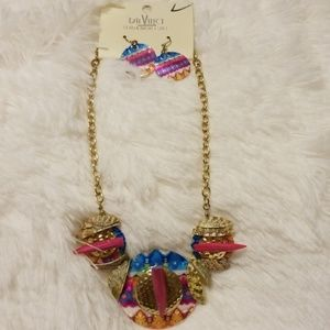 Davinci Necklace and Earrings set